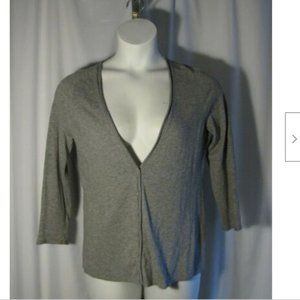 Chico's 1 Lightweight Gray Cardigan Sweater